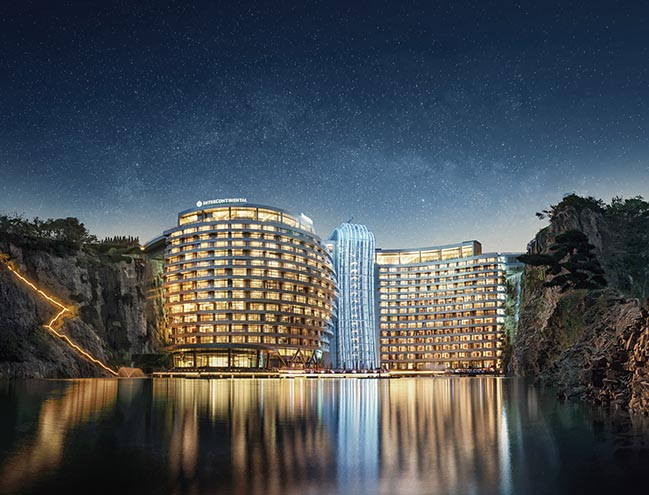 Interior design of InterContinental Shanghai Wonderland Hotel by CCD / Cheng Chung Design (HK)