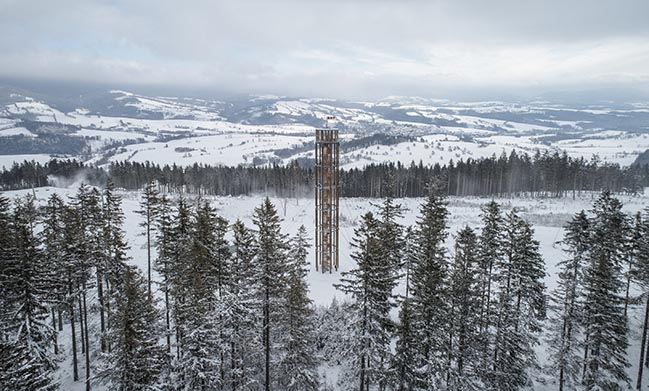 Lookout Tower at Kraličák by Huť architektury Martin Rajniš