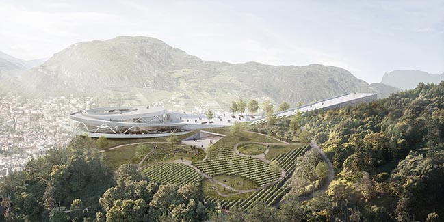 Snohetta envisions a new home for Ötzi the Iceman on the Virgl Mountain in Northern Italy