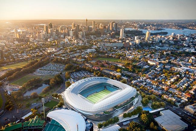 Sydney Football Stadium by Cox Architecture