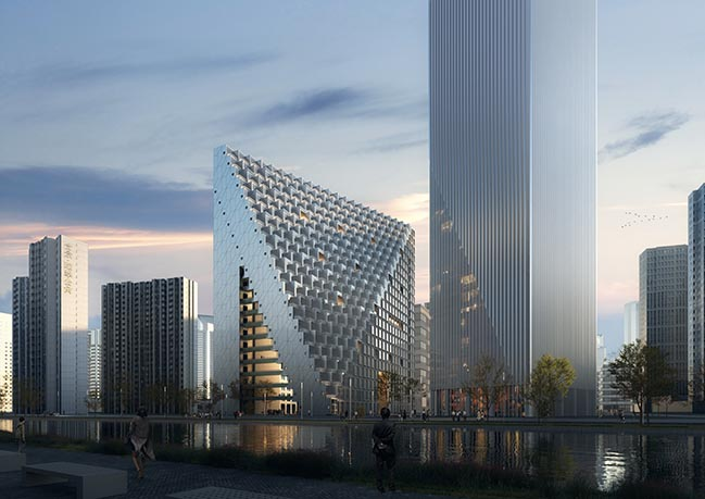 OMA / Chris van Duijn's Xhinhu Hangzhou Prism breaks ground