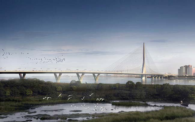 Zaha Hadid Architects' Danjiang Bridge construction begin