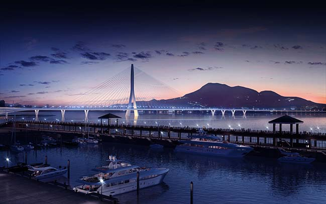 Zaha Hadid Architects Danjiang Bridge construction begin