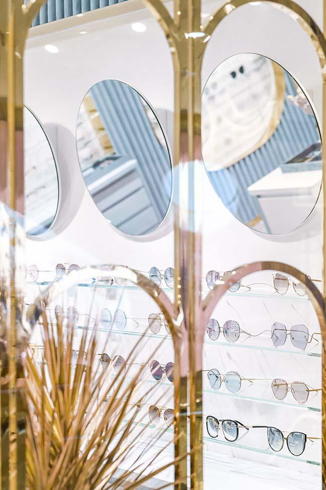ALEKSA studio designed flagship stores for eyewear brand For Art's Sake in London and Shanghai