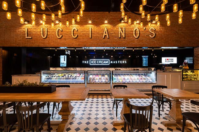 Lucciano's ice cream shop in Buenos Aires by FERRO & Assoc.
