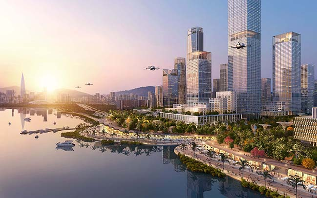 Shenzhen Bay Headquaters City by Henning Larsen