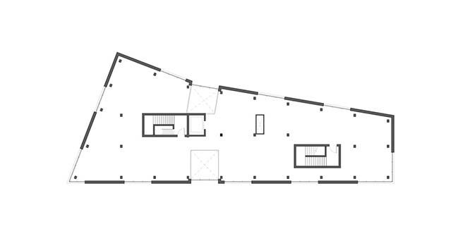 B76: A wedge shaped 20,000 sq. ft. building in Portland by Skylab