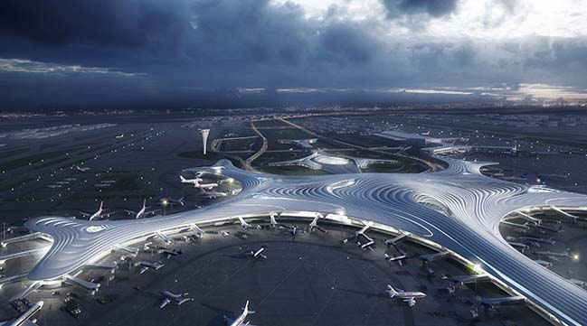 MAD Architects releases design of Harbin Taiping International Airport's Terminal 3