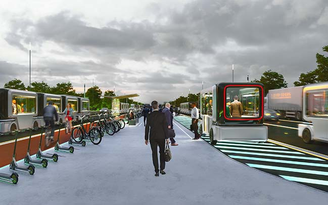 Carlo Ratti Associati unveils future urban highways of Paris in 2050