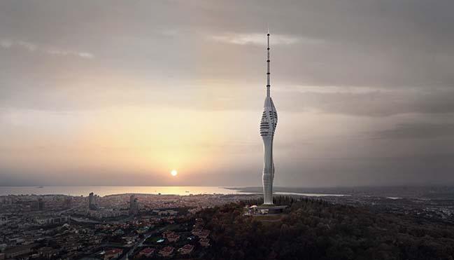 Istanbul Camlica TV and Radio Tower by Melike Altınışık Architects