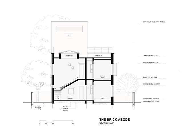 The Brick Adobe by Alok Kothari Architects