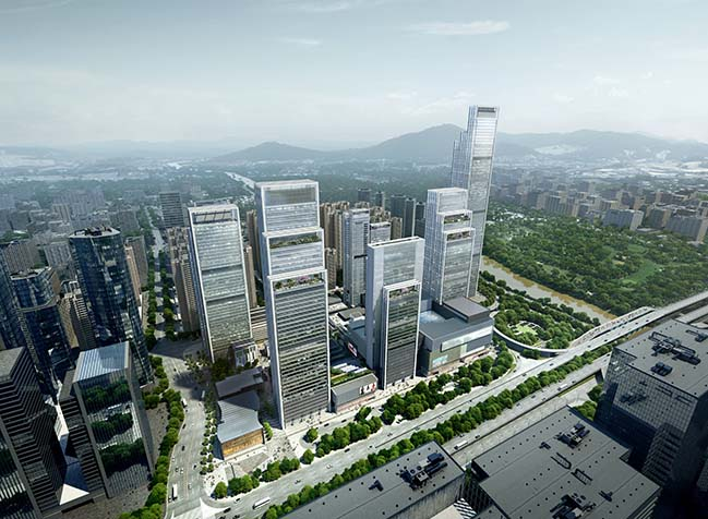 Nanshan Technology Finance City in Shenzhen by Foster + Partners