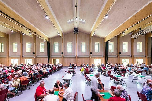Salle des fêtes de Pratgraussals by ppa • architectures + Encore Heureux architectes