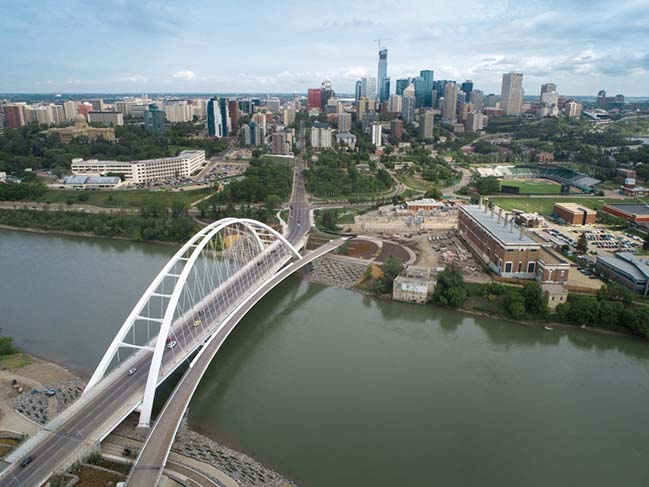 The iconic new Walterdale Bridge by DIALOG