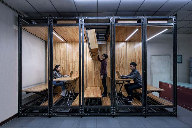 9.639: An Inserted Variable Office in Beijing by LUO studio