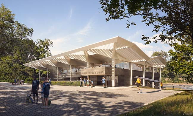 Foster + Partners revealed new Boathouse designs for Row New York
