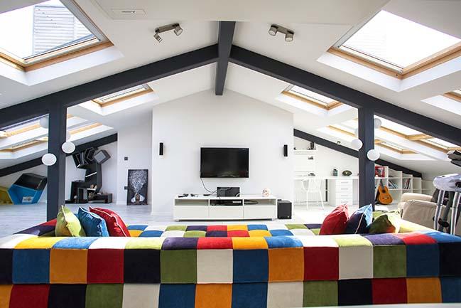 Attic Loft - Multifunctional Penthouse by Elips Design Architecture