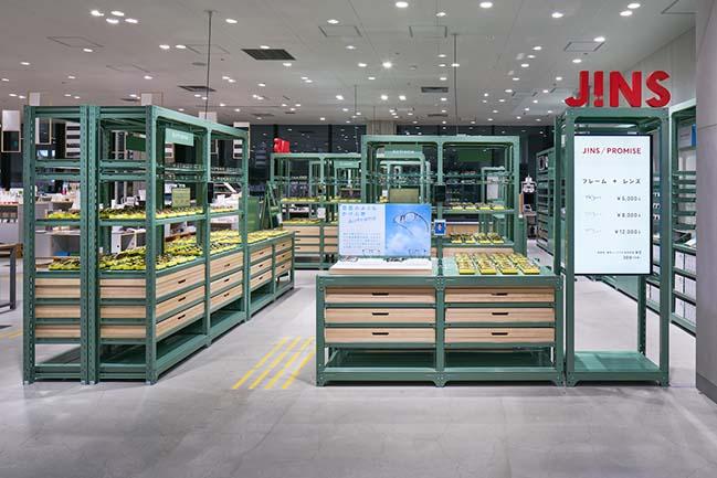 JINS Ginza Loft Shop by Jo Nagasaka / Schemata Architects