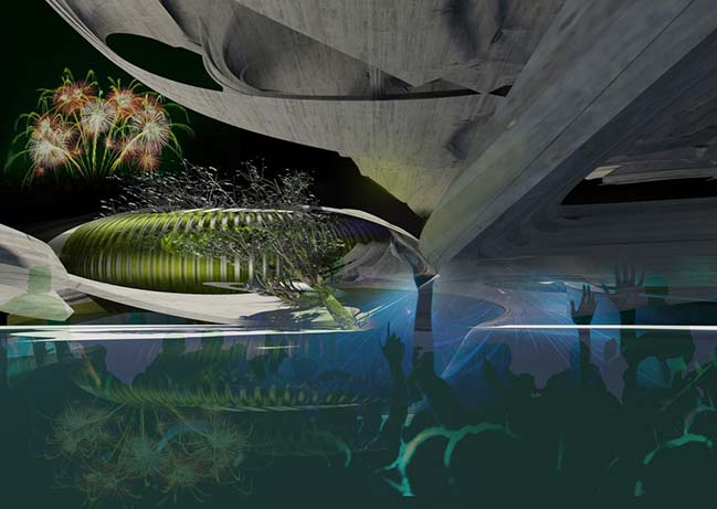 ECO CREMATION - Holographic Recycling Crematorium by Margot Krasojević Architects