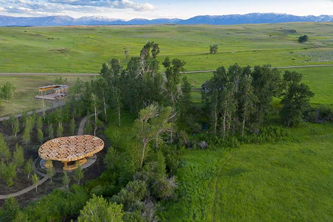 Xylem - Pavilion for Tippet Rise Art Center by Kéré Architecture