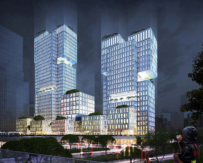 Vertical composition - gmp Architekten wins competition for China Telling