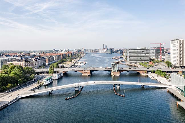 Lille Langebro: New cycle and pedestrian bridge in Copenhagen by WilkinsonEyre