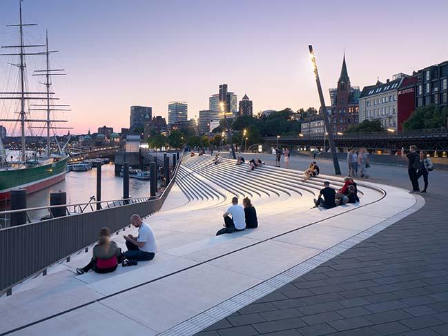 Niederhafen River Promenade by Zaha Hadid Architects
