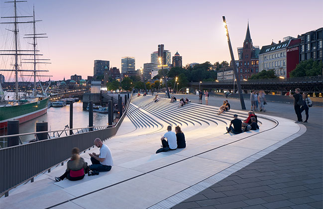 Niederhafen River Promenade by Zaha Hadid Architects
