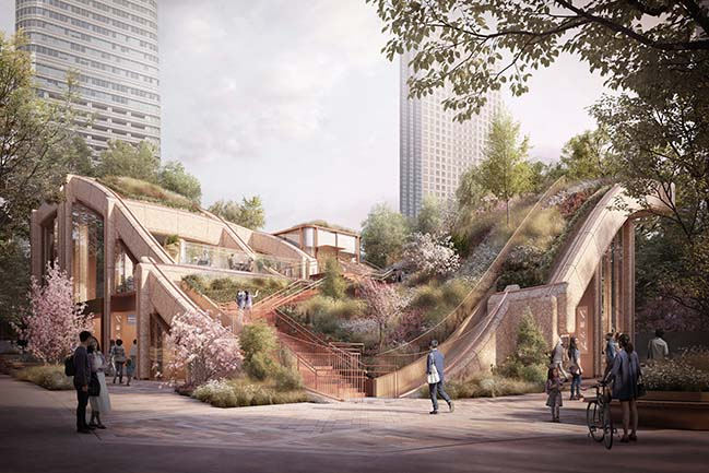 Toranomon-Azabudai by Heatherwick Studio
