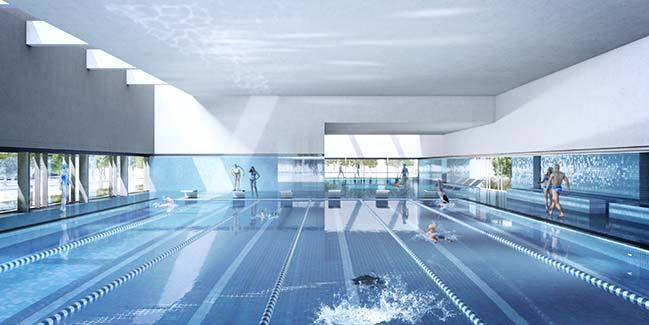 Ost Indoor Swimming Pool in Leipzig by gmp Architekten