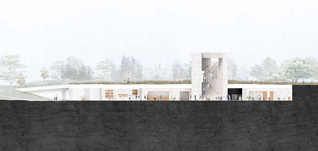 Praxis Architects design a visitor center for the World Heritage site in Boesdal Kalkbrud