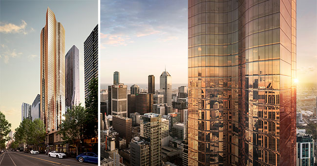 Uno: 65 storey mixed use development in Melbourne by Elenberg Fraser
