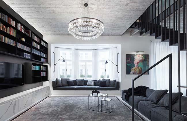 POLITICKÝCH VĚZŇŮ: Duplex apartment in Prague by OOOOX