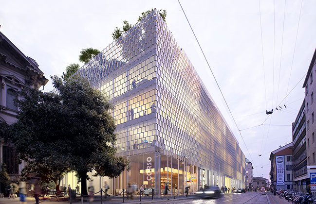 SOM Transforms Gio Ponti Complex in Milan into Campus of the Future