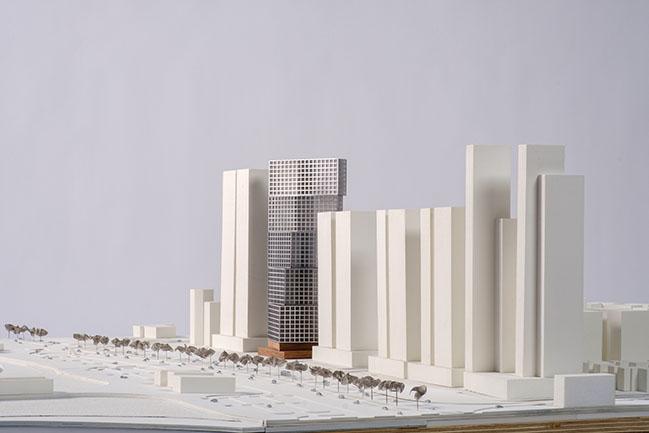 OMA / Iyad Alsaka and Reinier de Graaf revealed design for the Wafra tower