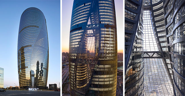 Leeza SOHO by Zaha Hadid Architects opens with the world's tallest atrium