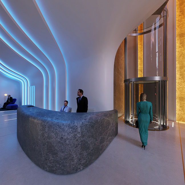 Southbank Tower Lobby by Zaha Hadid Architects