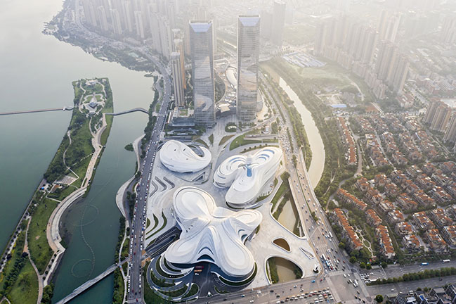 Changsha Meixihu International Culture and Arts Centre by Zaha Hadid Architects