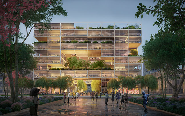 Foster + Partners wins competition to design Alibaba new HQ in Shanghai