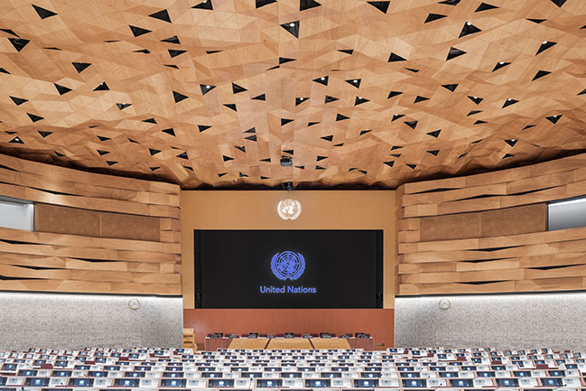 WOOD-SKIN for the United Nations Office at Geneva by PEIA Associati
