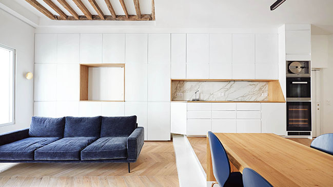 Parisian Apartment Refurbishment by JCPCDR ARCHITECTURE