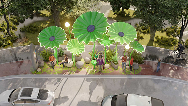 LOTUS ECO-BUS STOP by 100architects