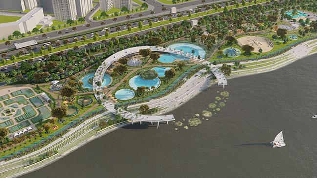 Jamsil Hangang Park Natural Swiming Pools by 100architects