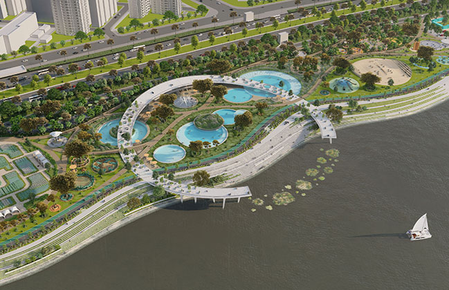 Jamsil Hangang Park Natural Swiming Pools by 100architects