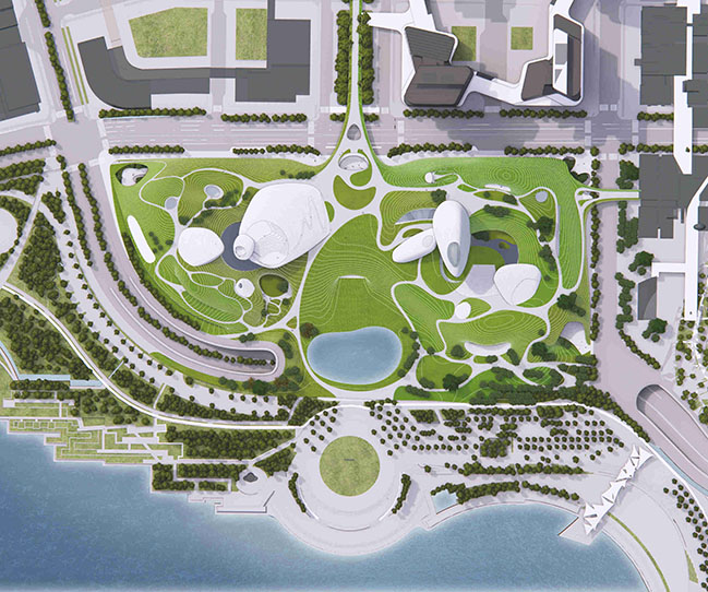 Shenzhen Bay Culture Park by MAD Architects
