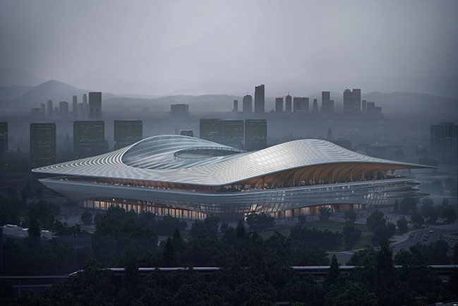 Xian International Football Centre by Zaha Hadid Architects