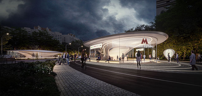 ZHA wins competition to build Klenoviy Boulevard Station 2