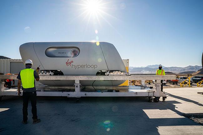 Virgin Hyperloop Pegasus by Bjarke Ingels Group and Kilo Design
