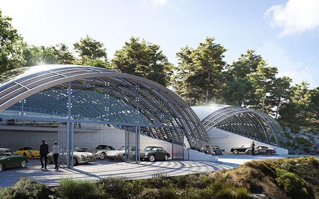 Car collectors pavilion by Borgos Pieper