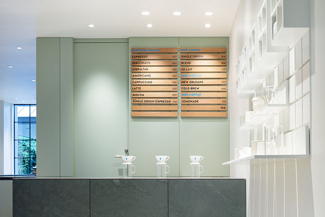 Blue Bottle Coffee Kyoto Kiyamachi Cafe by Jo Nagasaka / Schemata Architects